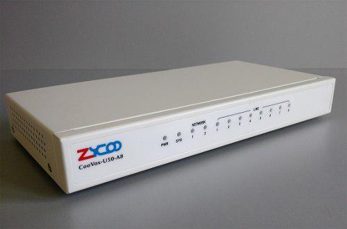 Central ip zycoo u50 a8 8 lineas analogas 100 internos