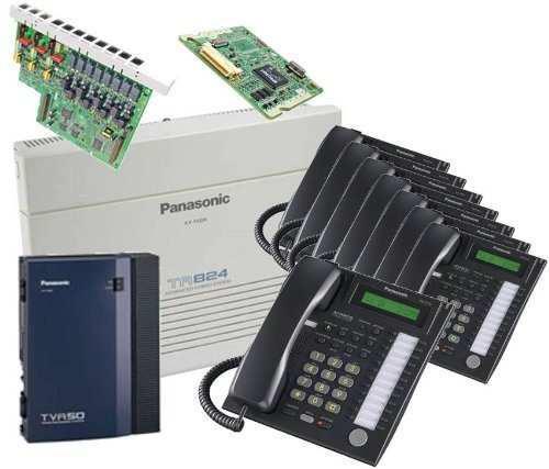Panasonic kx-ta824 sistema qty 8 kx-t7731b tva50 kx-ta8248