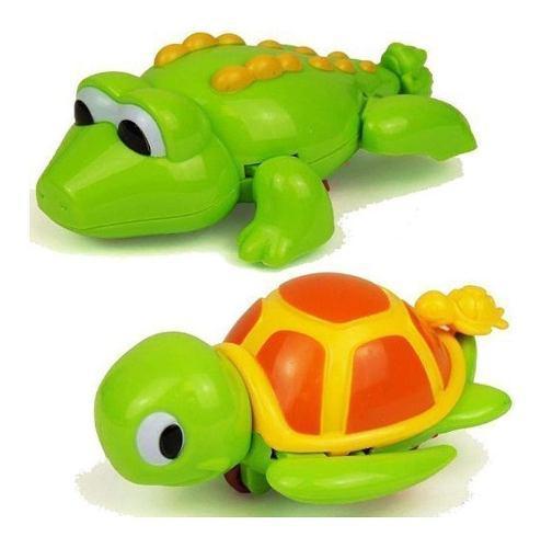 Animales muñeco para agua, baño a cuerda de bebe