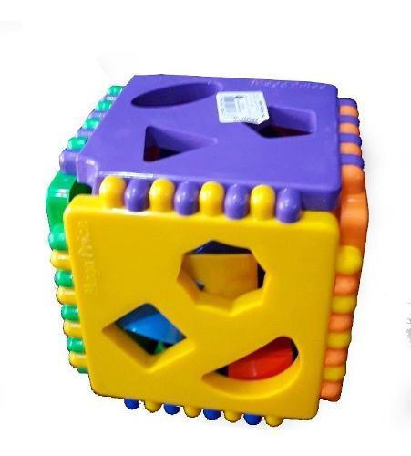 Cubo didáctico encastre bebés niños aprendizaje figuras