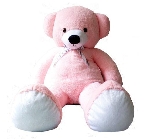 Oso peluche gigante 1 metro rosa