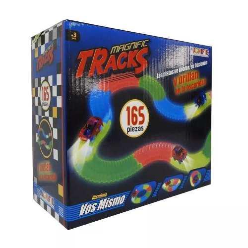Pista magnific tracks 165 piezas auto luminoso playking