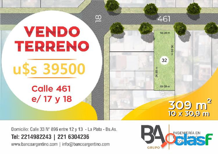 Calle 461 e/ 18 y 19 city bell