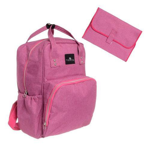 Bolso mochila maternal premium con cambiador materlina