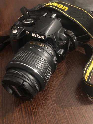 Camara reflex nikon d3100 14mp lente 18-55, con accesorios