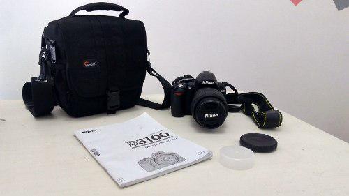 Camara reflex nikon d3100 lente y bolso como nueva oferta