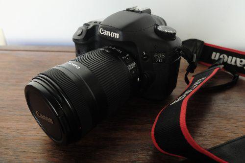 Canon Eos 7d + Lente 18-135mm Casi Sin Uso