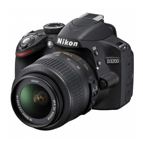 Cámara Réflex Nikon D3200 + Lente Kit 18-55mm + Memo +