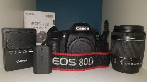 Kit Canon 80d Con Lente 18-55mm Usada