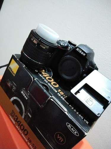 Nikon d3400 - camara reflex - 8 gb - lente 18-55