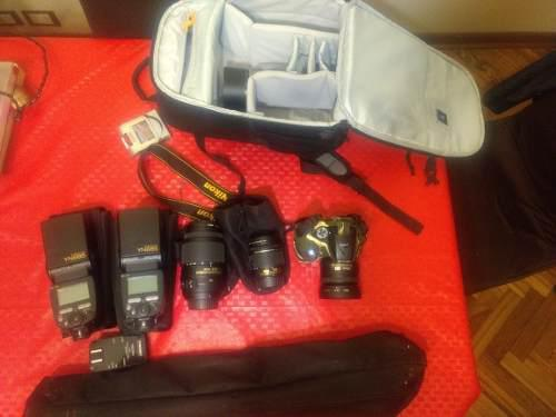Nikon D5300+3 Lentes +2 Flashes+trípode+mochila Lowepro