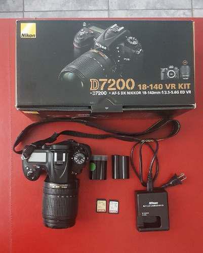 Nikon D7200 Con Lente 18-140mm 23.000disp Aprox. +accesorios