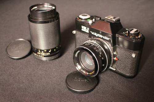 Voigtlander slv2 normal 50mm y tele 135mm excelente estado