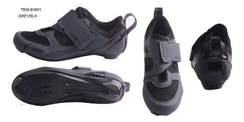 Zapatilla zapatos bicicleta triatlon sbk ciclismo tb16-b1691