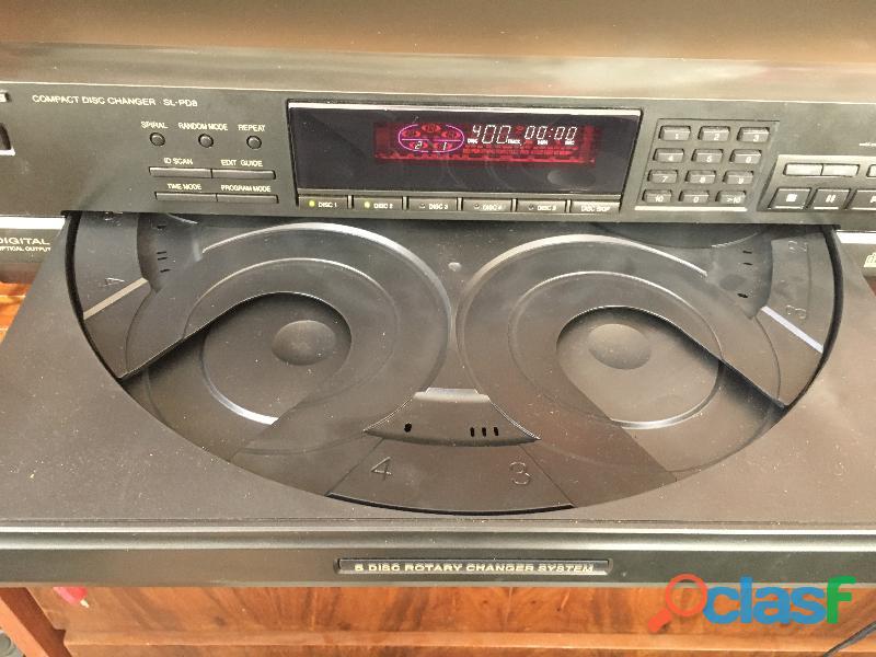 Compactera technics 5 cds modelo sl  pd8