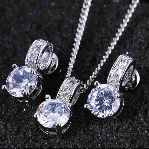 Aros Collar Set Swarovski Elements Cristal Novias Regalo