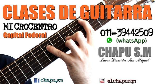 Clases de guitarra - microcentro - capital federal
