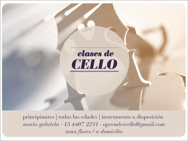 Clases de cello / san telmo · flores / violoncello · cello