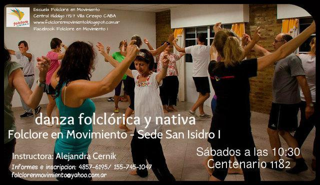 Clases de danza folclórica y nativa- folclore en movimiento