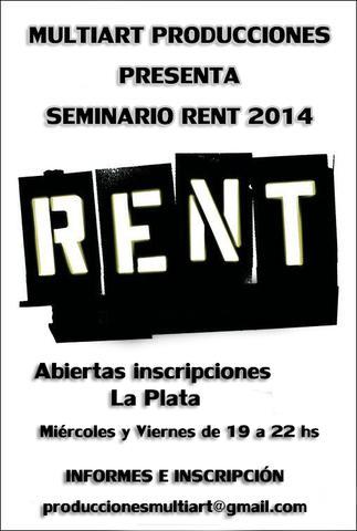 """Seminario de comedia """"rent el musical"""""""