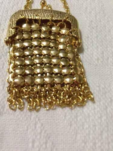 Antiguo Collar Carterita Baño Oro Muy Fino