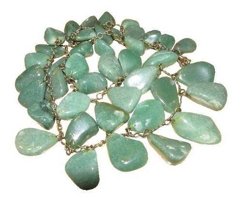 Collar Caribe Piedras Simil Verde Esmeralda - Nuevo