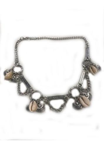 Collar Corto Gargantina Cadena Caracol Colgante Accesorio