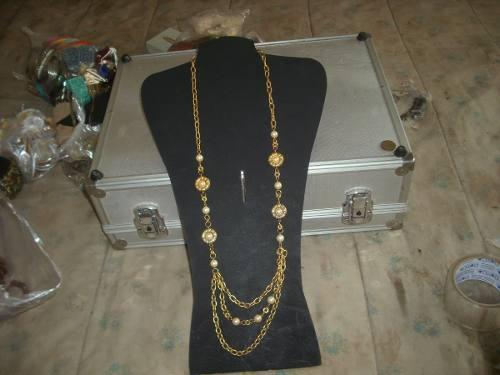 Collar Largo De Metal Dorado Multiple Retro Vintage Cº