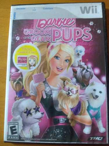 Juego wii barbie groom and glam pups