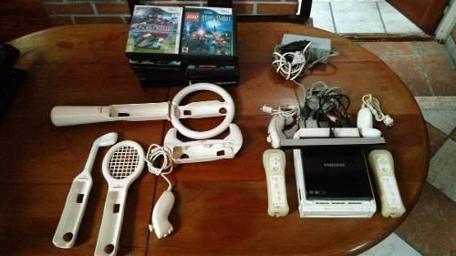 Nintendo wii + accesorios + 16 juegos