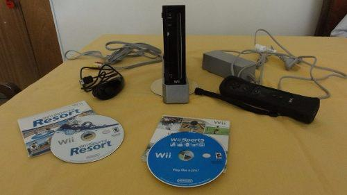 Nintendo wii black original + accesorios + juegos