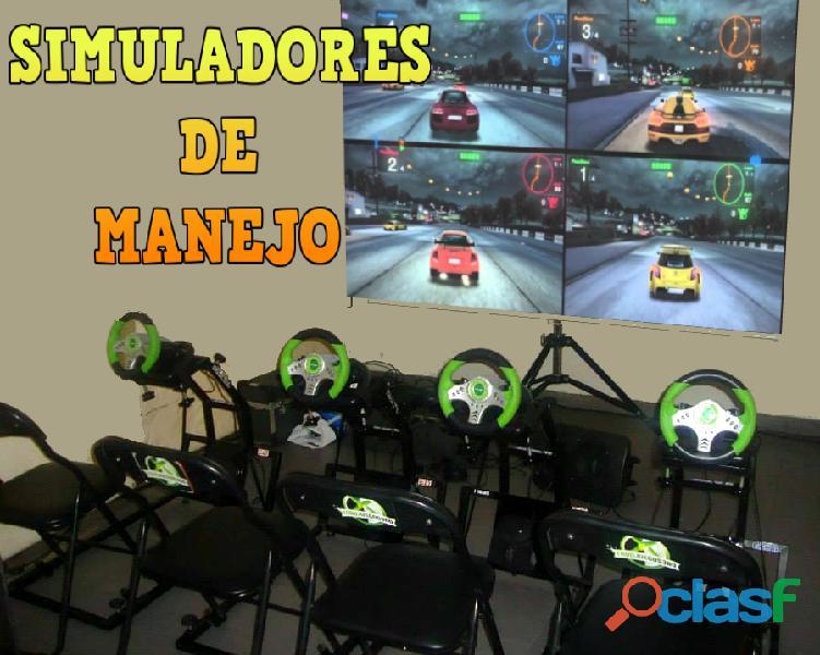 Alquiler simuladores de manejo para chicos xbox ps4 ver video!