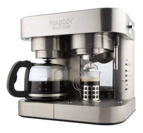 Cafetera electrica express filtro peabody espumador 19 bar