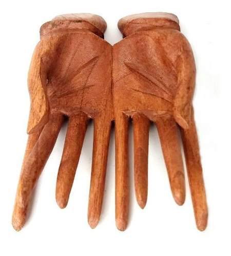 Set mano madera 20cm tarjetero recibir moderno 151.004131