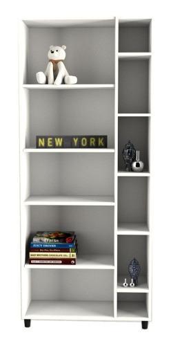 Biblioteca modular 9 estantes melamina oficina / hogar