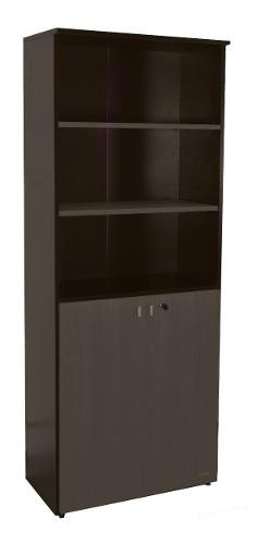 Biblioteca platinum mod 530 estantes puertas librero oficina