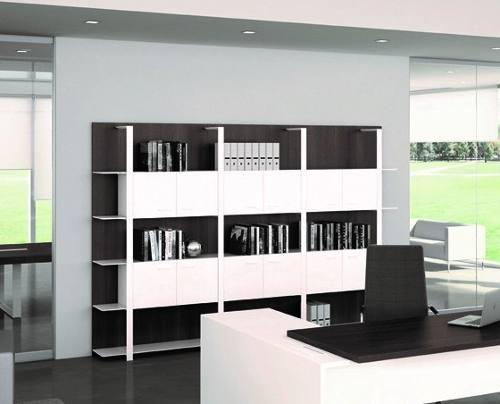 Mueble biblioteca puertas oficina auxiliar ote muebles
