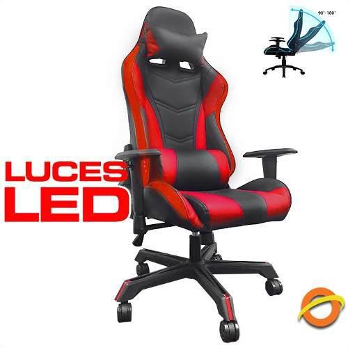 Silla gamer con luz luces led reclinable oficina esports