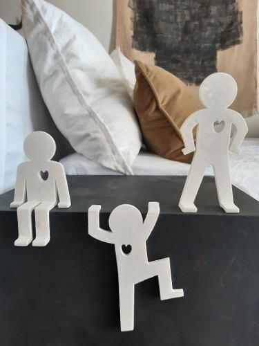 3 hombres sombra de 17 cm