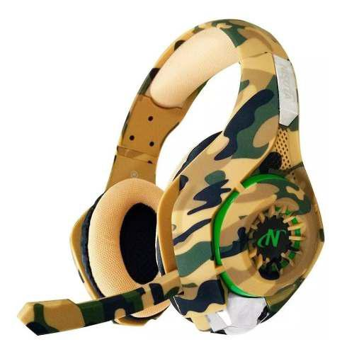 Auricular gamer mic ps4 xbox one nisuta camuflado ns-aug300c