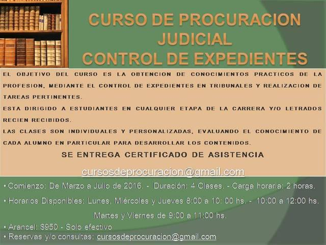CURSOS DE DERECHO TALLER PROCURACION JUDICIAL