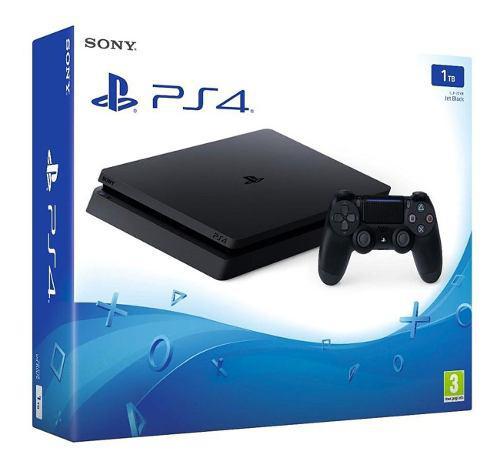 Consola playstation 4 slim 1tb + juego ps4 físico de regalo