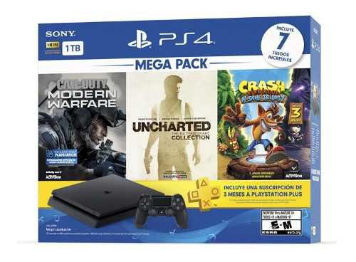 Consola ps4 slim 1tb mega pack 7 original nueva