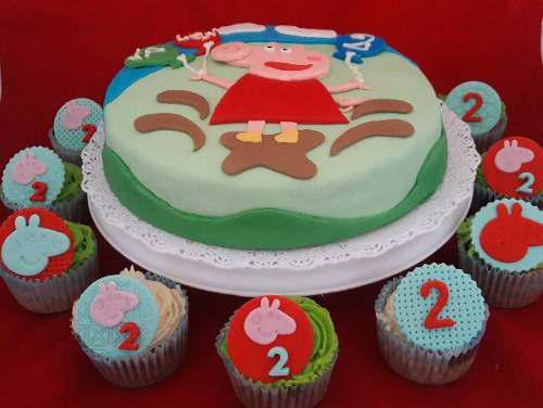 Combo torta y 12 cupcakes decorados personalizados caba