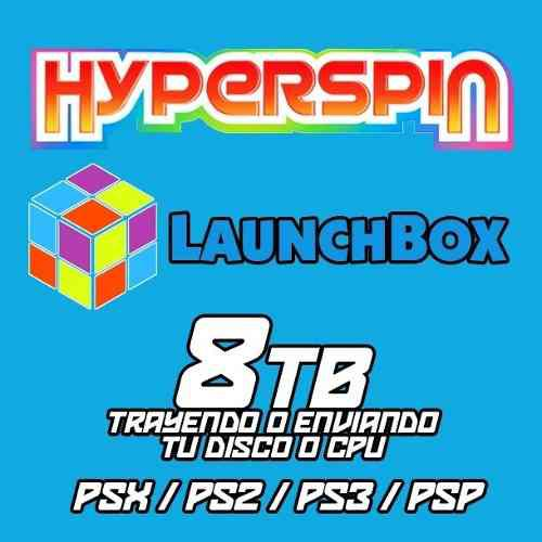 Hyperspin / launchbox 8tb - ps1 / ps2 / ps3 y psp completos