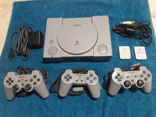 Playstation 1 fat impecable reliquia completa chipeada
