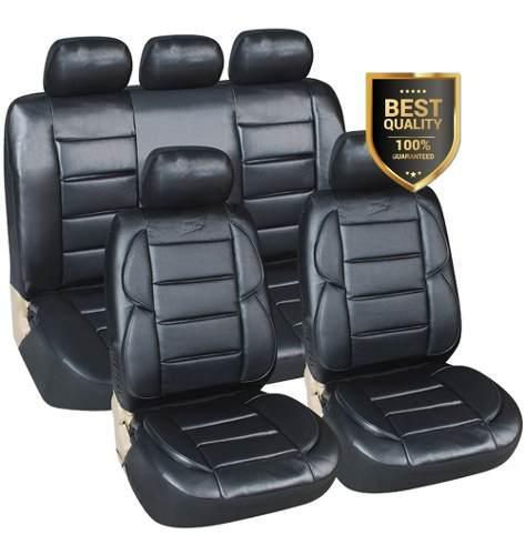 C funda cubre asiento cuerina auto super acolchada riñonera