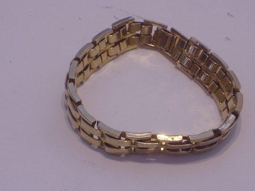 Antigua pulsera grueso de metal color oro retro cº