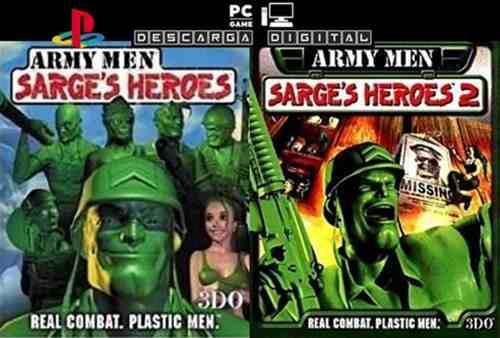 Army men: sarge's heroes (2 juegos) pc digital ps1 clásico