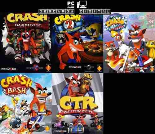 Crash bandicoot (5 juegos) pc digital clasicos ps1